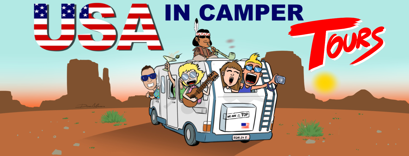 USA in Camper Tours Logo